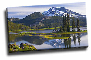 Sparks Lake, South Sister Peak Canvas Picture Poster Art