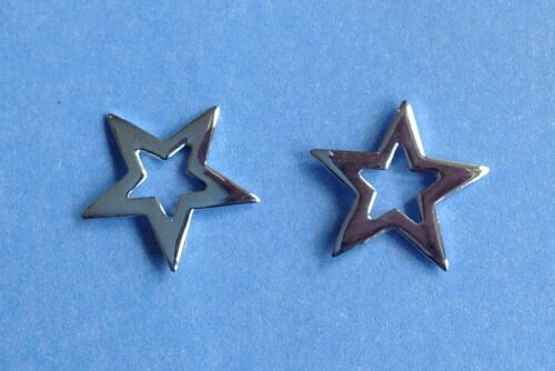 Par De Plata Esterlina 925 Star Zarcillos! Nuevo!! 13 Mm