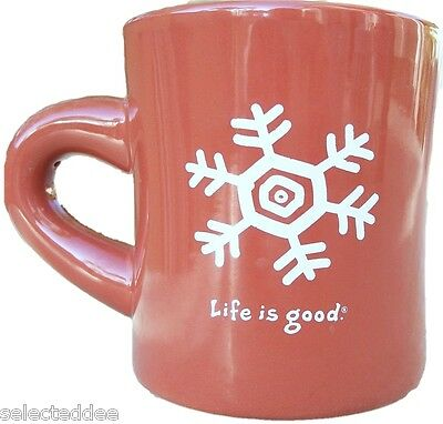 Life is Good Coffee Mug Do What You Like Like What You Do Copper Brown Snowflake