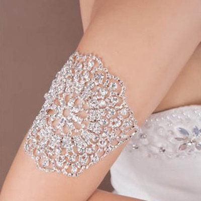 Bridal Rhinestone Crystal Arm Armlet Bracelet Armband Women Wedding Jewelry New