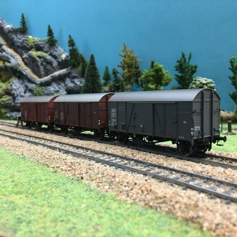Set de 3 wagons couverdes GMS 30 ép III SNCF OBB SAARHO 187BRAWA 45901