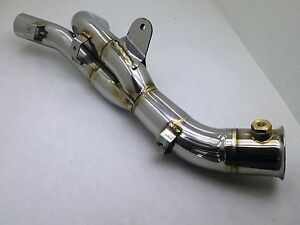 09-14 Yamaha R1 Y Mid Pipe Catalytic Converter Eliminator Cat Delete Decat
