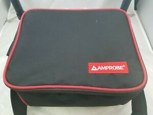 AMPROBE-MULTIMETER-LARGE-SOFT-CASE-BAG-10-034-8-034-7-034-WITH-DIVIDER-amp-SHOULDER-STRAP