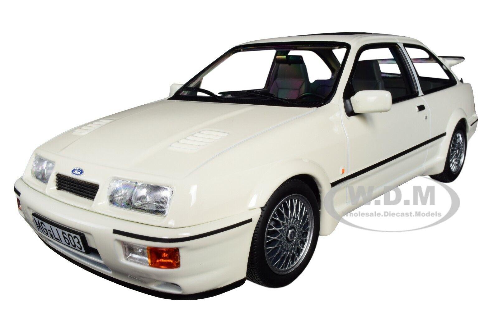 1986 FORD SIERRA RS COSWORTH Blanc 1 18 Diecast  voiture modèle par NOREV 182771  le style classique
