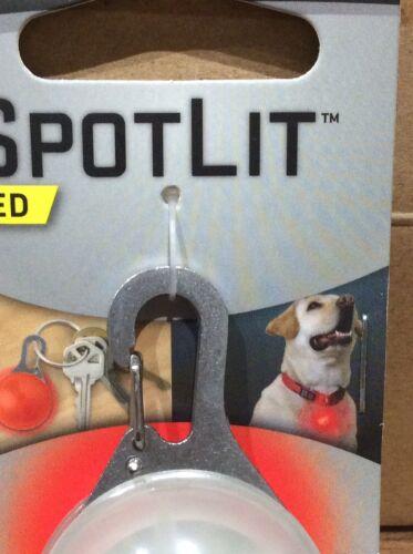 Nite Ize Spotlit RED LED Carabiner Light Flashlight Keyring Dogtag etc