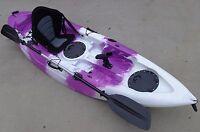 Sierra Single Fishing Kayak Ocean Kayak Canoe Seat Paddle Purple White Kayak