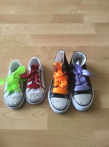 9e1dee2277de Image is loading CHILDRENS-satin-ribbon-shoe-laces-superior-quality-LOW-