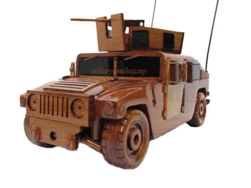 M1151 Army Marine USMC HUMV HUMVEE  Wooden Wood Model Jeep 50 Cal Machine Gun