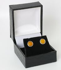 Silver earstuds made by David Andersen Norway, Hand enamelled.