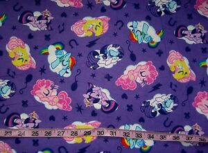 Kids flannel fabric my little pony cotton print quilt for Horse fabric for kids