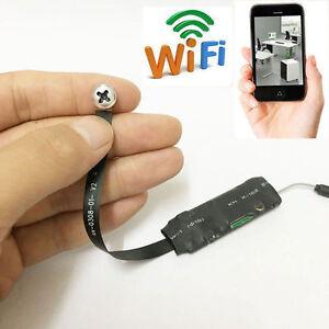 wireless spy nanny wifi mini p2p pinhole 720p hd screw webcam tiny camera dv dvr ebay. Black Bedroom Furniture Sets. Home Design Ideas