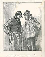 """Gavarni, Paul - """"CE qui se fait dans les meilleures sociètès"""" mostrarían 1853"""
