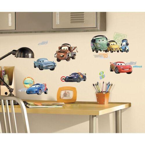 26 Cars 2 Movie Wall Decals Lightening McQueen Mater Stickers Bedroom Playroom