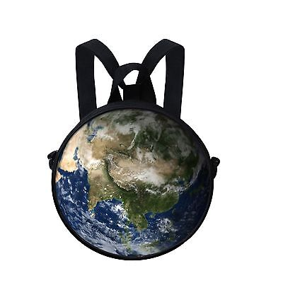 Fashion Planet Kid's Round Backpack Children Crossbody Bags Women Handbag Purse