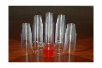 1 Ounce Clear Plastic Shot Glasses - Box Of 500 (1 Oz) 1 Free Shipping