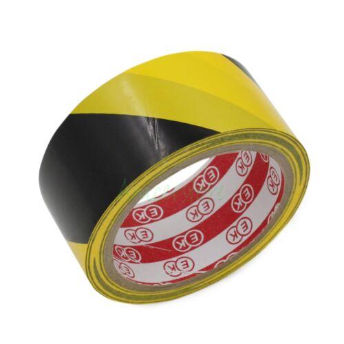 45mm x 16M 52ft Yellow Black Zebra Crossing Warning Line Floor Boundary Tape