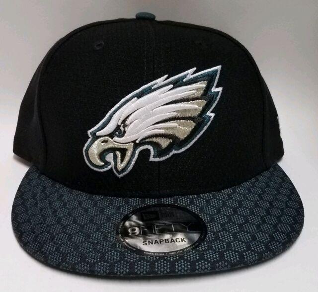 4d20cde2 Philadelphia Eagles 2017 Era Black Sideline 9fifty Snap Back Hat