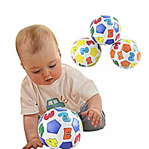 Numero-di-apprendimento-per-bambini-colorato-Palline-da-Calcio-Bambino-Morbido-Giocattolo-Educativo