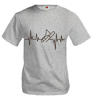 Buxsbaum® Herren Unisex T-shirt Musikfrequenz-posaune Blasmusik Instrument