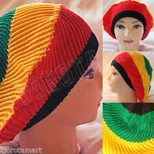 Fashion Knit Rasta Beanie Hat Cap Tam Beret Jamaican Hat Slouchy Head Wear