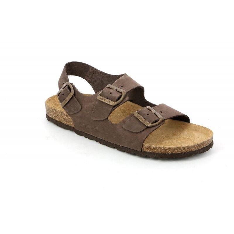 GRUNLAND BOBO SB3003 testa di moro sandali uomo fasce pelle nabuk birk | Eleganti  | Uomini/Donne Scarpa