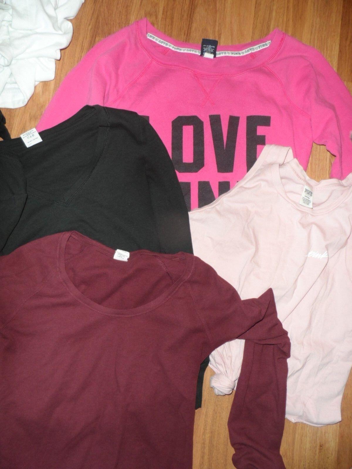 81ea9b5fb0a VS Victoria s secret PINK large lot 4 top thermal shirts sweatshirt tank  nzzbmj1665-Hoodies   Sweatshirts