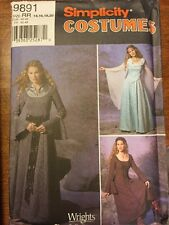 Simplicity 1045 Women Medieval Dress Princess Costume Sewing Pattern