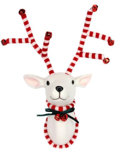 Gisela Graham Fabric Moose Stag Christmas Reindeer Hanging Head Wall Plaque