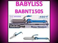 Babyliss Pro Nano Titanium 450° Turbo Heat Sol-gel 1 1/2 Spring Curling Iron