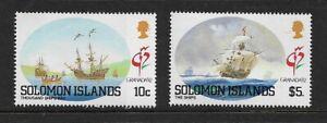 1992 SOLOMON ISLANDS -Grenada '92 Exhibition - Pair - MNH.