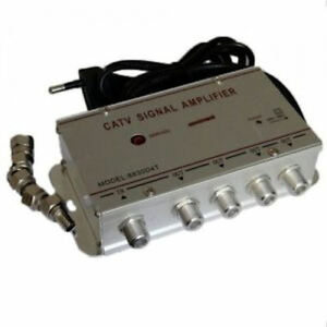 AMPLIFICADOR-DE-SENAL-DE-TELEVISION-4-SALIDAS-TV-SIGNAL-AMPLIFIER-TDT-ANTENA-TV