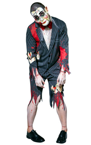 Da Uomo PUTRIDA burattinaio Halloween Fancy Dress Costume ventriloquo Manichino Maschio