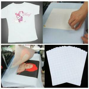10x-Set-T-Shirt-Print-Iron-on-Heat-Press-Light-Dark-Fabric-Inkjet-Transfer-Paper