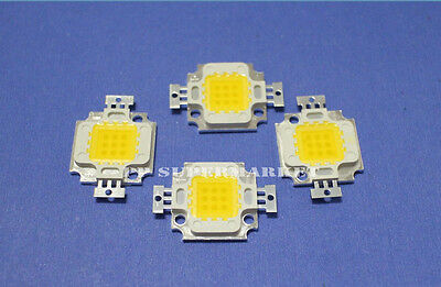 10pcs 10W Neutral White LED Lamp Chip 4000-4500K High power LED 9-12V DC
