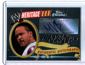 WWE-MVP-Topps-Heritage-III-Chrome-2008-Autograph-Card