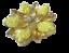 thumbnail 2 - Vintage Brooch  AB Rhinestone Yellow Iridescent Molded Glass Flower Gold Tone