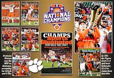 CLEMSON'S NATIONAL TITLES IN SPORTS ILLUSTRATED COMMEMORATIVE COVERS POSTER