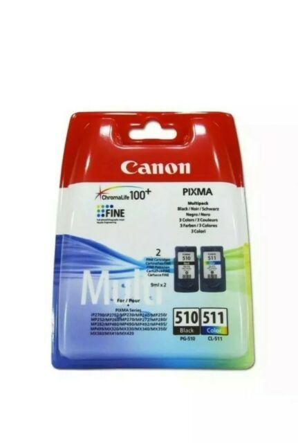 Genuine Canon PG-510 Black CL-511 Colour Ink Cartridges For PIXMA MP250 Printer