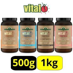Vital Pea Protein Powder 1KG, 500g, Unflavoured, Vanilla, Chocolate, Strawberry