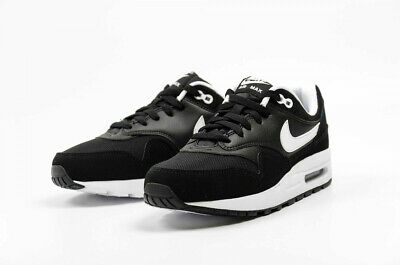 Girls Kids Nike Air Max 1 GS Trainers Shoes Black White 807602 001 VARIOUS SIZES | eBay