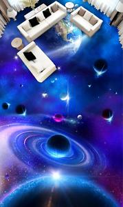 3D Brillante Papel de Parojo de suelo Planeta Sky 8 Impresión De Parojo Murales Wallpaper AJ Reino Unido Limón