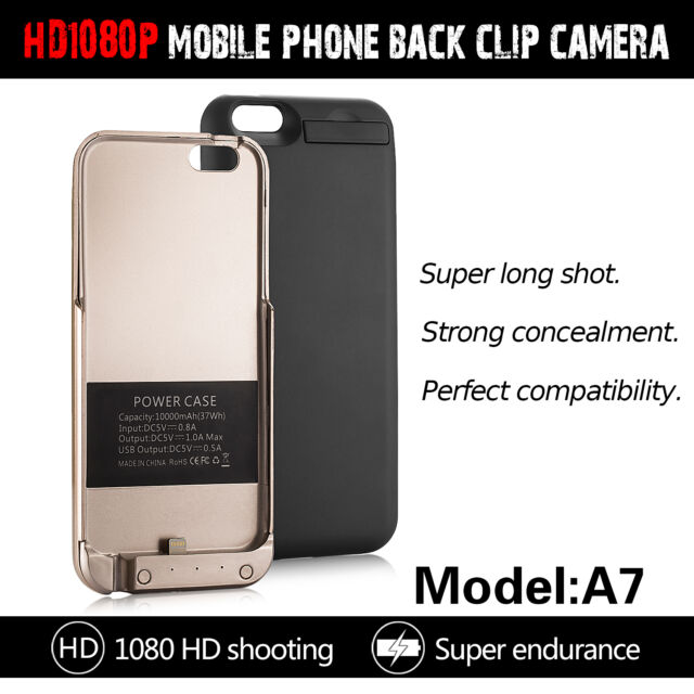 1080P 8GB Spy Power Bank Camera 10000mAh Backup Case Mini Camera For iPhone6 6S