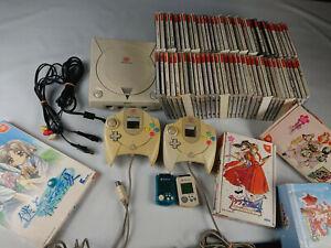 Console-Sega-Dreamcast-JAP-50-jeux-manette-cable-sakura-wars-limited-edition