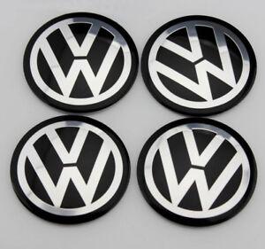 4x 56mm VW Emblem Felgen Aufkleber Sticker Nabendeckel Nabenkappe Radkappe