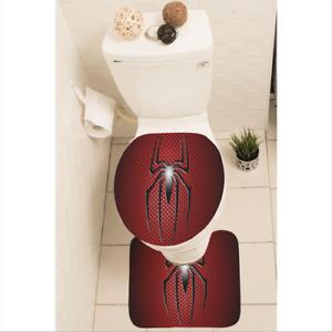 Spider Man Badezimmer Vorleger-Set Flanell Badvorleger 3-tlg y70 w2073