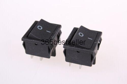 10 Pcs x Black 4 Pin On-Off DPST Snap In Boat Rocker Switch 250V//6A 125V//10A AC