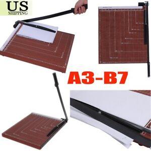 "18"" Manual Guillotine Paper Cutter Blade Metal Base Trimmer Scrap Booking A3-B7"