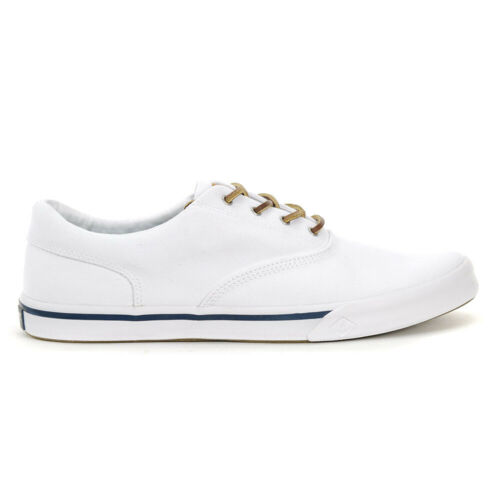 Sperry Top-Sider Mens Striper II CVO Washed White Original Boat Shoes STS1739...