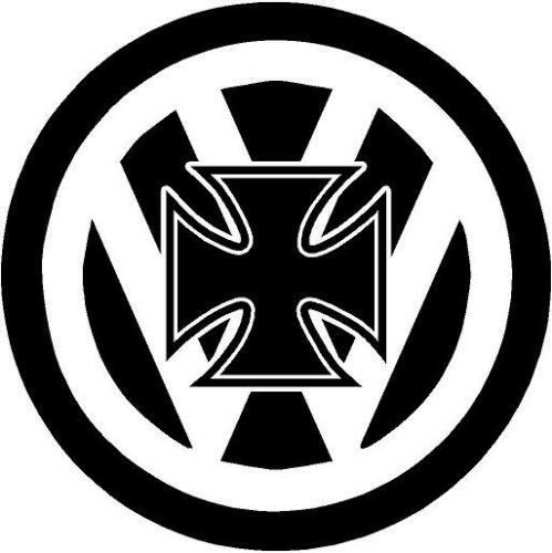 maltese cross vw volkswagen theme dub car campervan transporter sticker 100mm