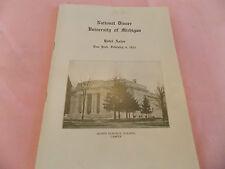 NICE 1911 University of Michigan UM Hotel Astor NYC New York City Seat List WOW!